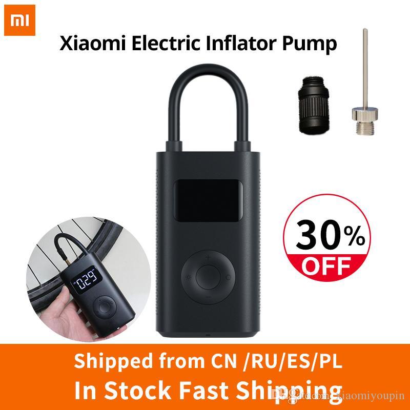 Elektrische bandenpomp Xiaomi Mijia MJCQ01QJ (0.2-10.3bar, 2000mAh-Akku, opladen middels Micro-USB)