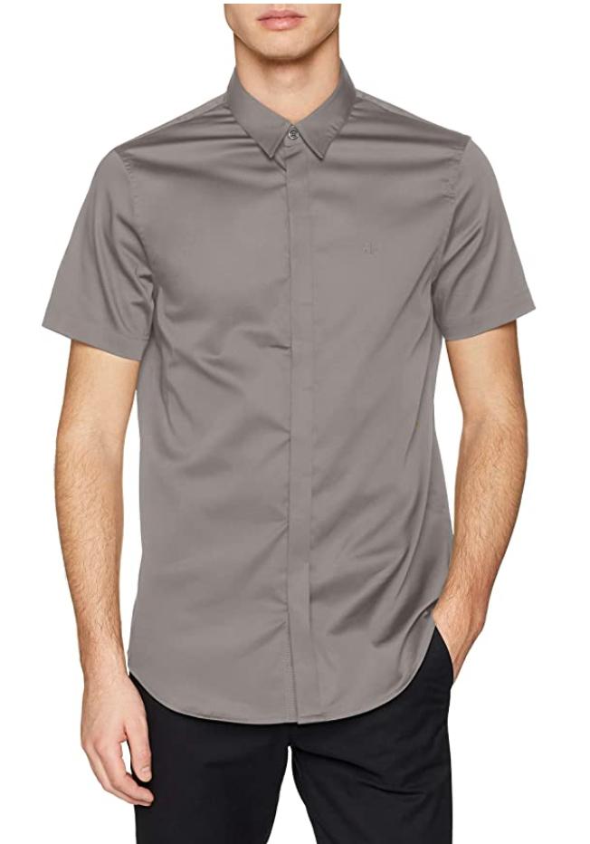 Armani Exchange Stretch Satin Slim overhemd @amazon.nl