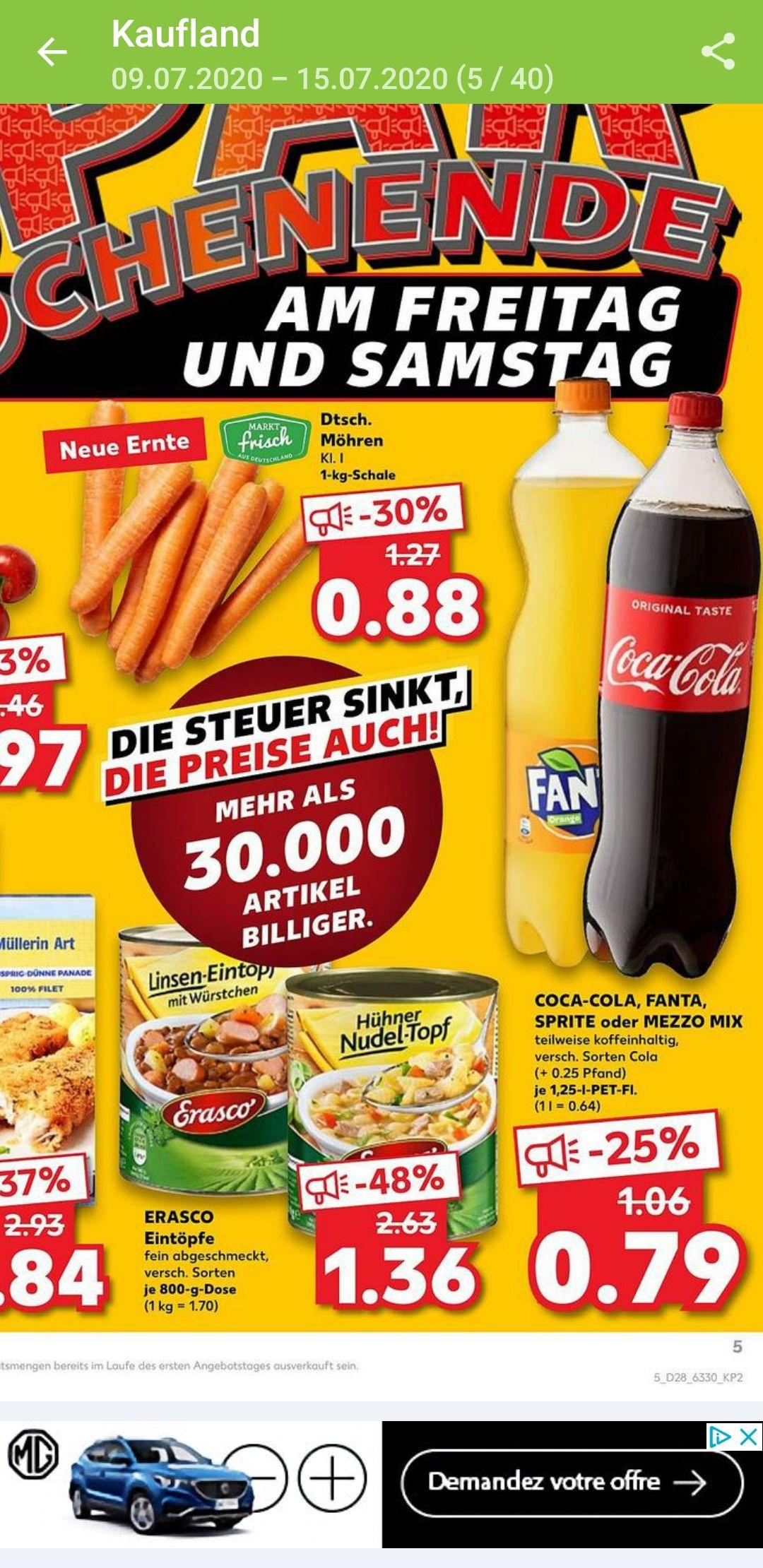 Grensdeal Kaufland Duitsland. Coca Cola 0,79€ per 1,25liter fles