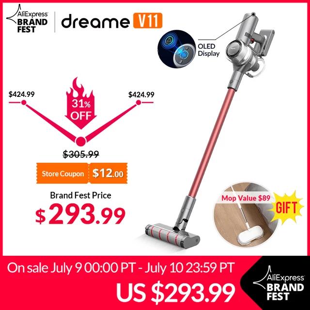 2020 - Dreame V11 + Dreame Mop (450W, 25kPa, 125.000U/min, 3000mAh/25,2V accu)