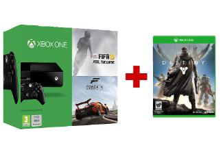 Xbox One Console (zonder Kinect) + Destiny + Fifa 15 + Forza 2 voor € 399,- @ Media Markt België