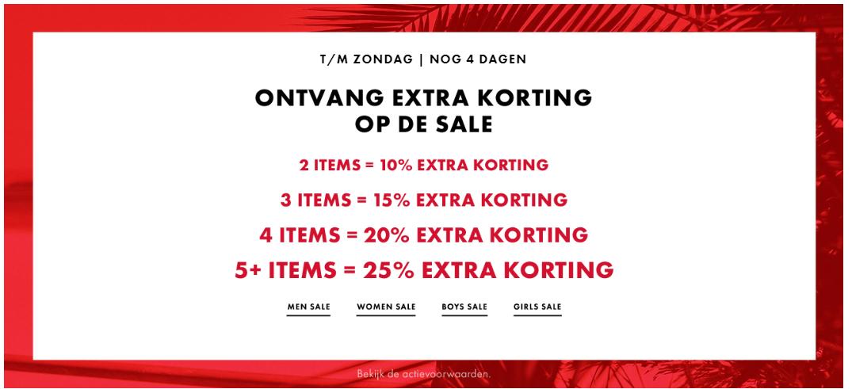 Stapelkorting bij WE-fashion! tot 25% extra korting bovenop de SALE!