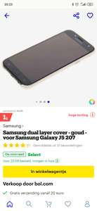 Samsung dual layer cover - goud - voor Samsung Galaxy J5 207