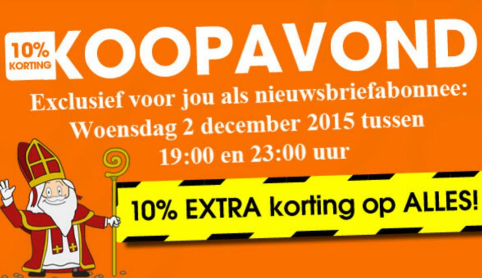 Vanavond (3 december) 10% korting op alles @ Bobshop & Modern