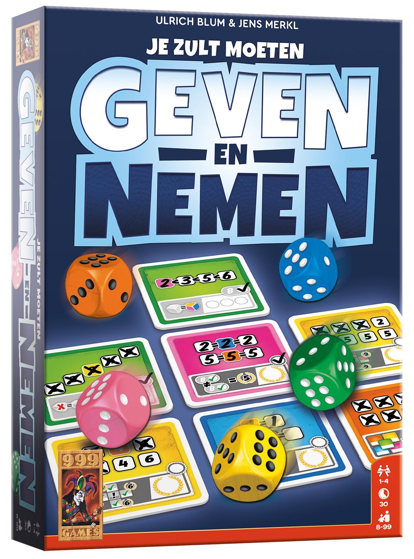 Geven en nemen dobbelspel (Duitse doos)
