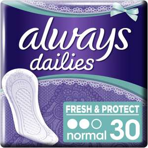 Always Fresh and Protect inlegkruisjes pak van 30 stuks @ Amazon.nl