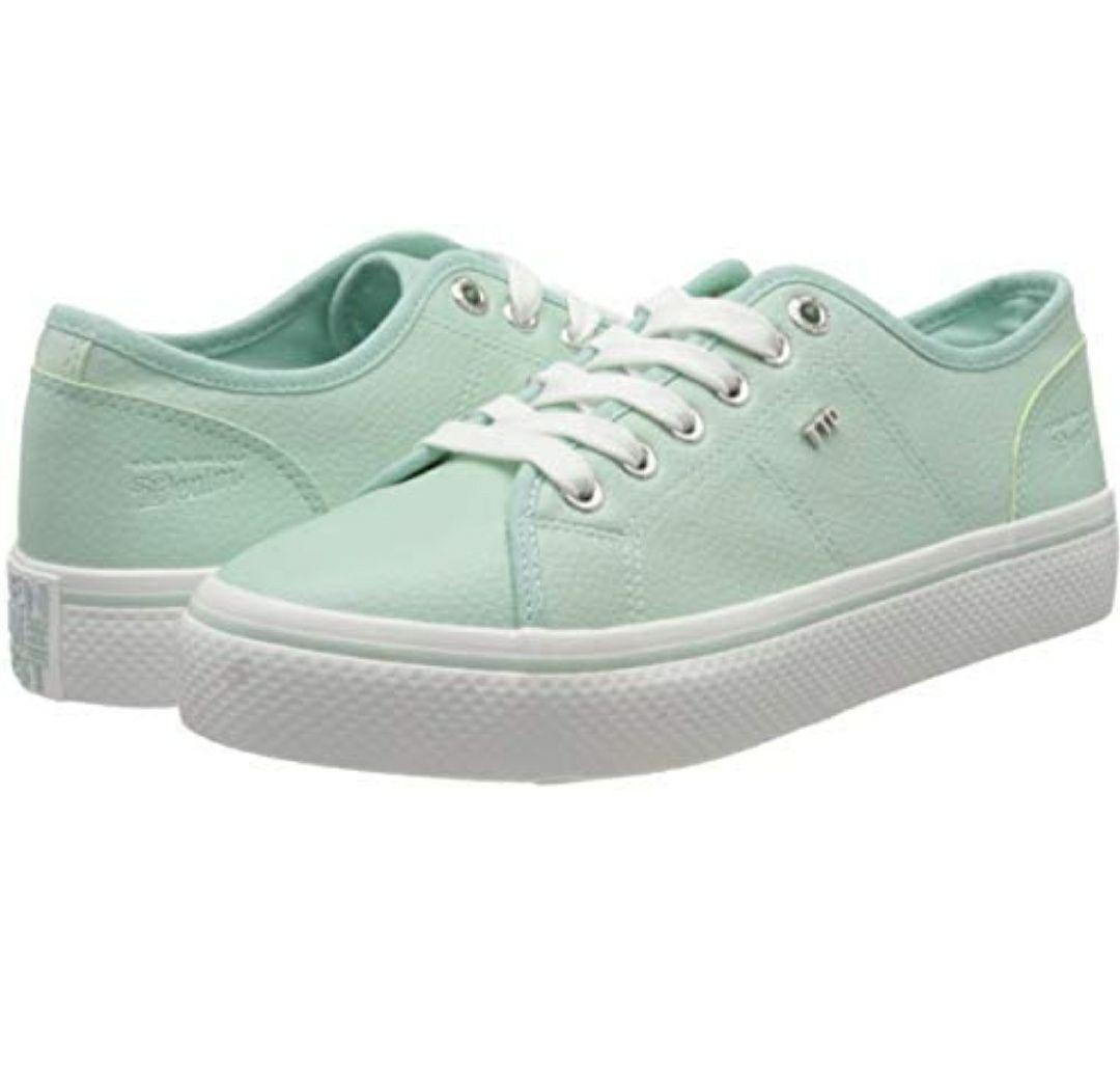 Tom Tailor dames sneakers mintgroen