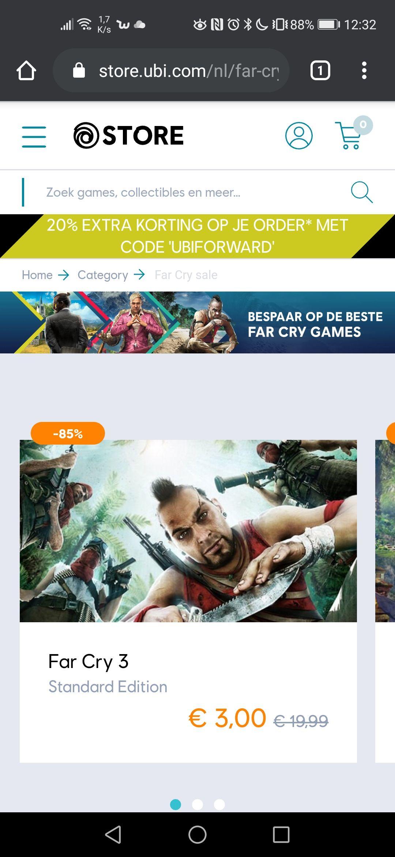 Grote korting op Far Cry en andere games op de Ubi store