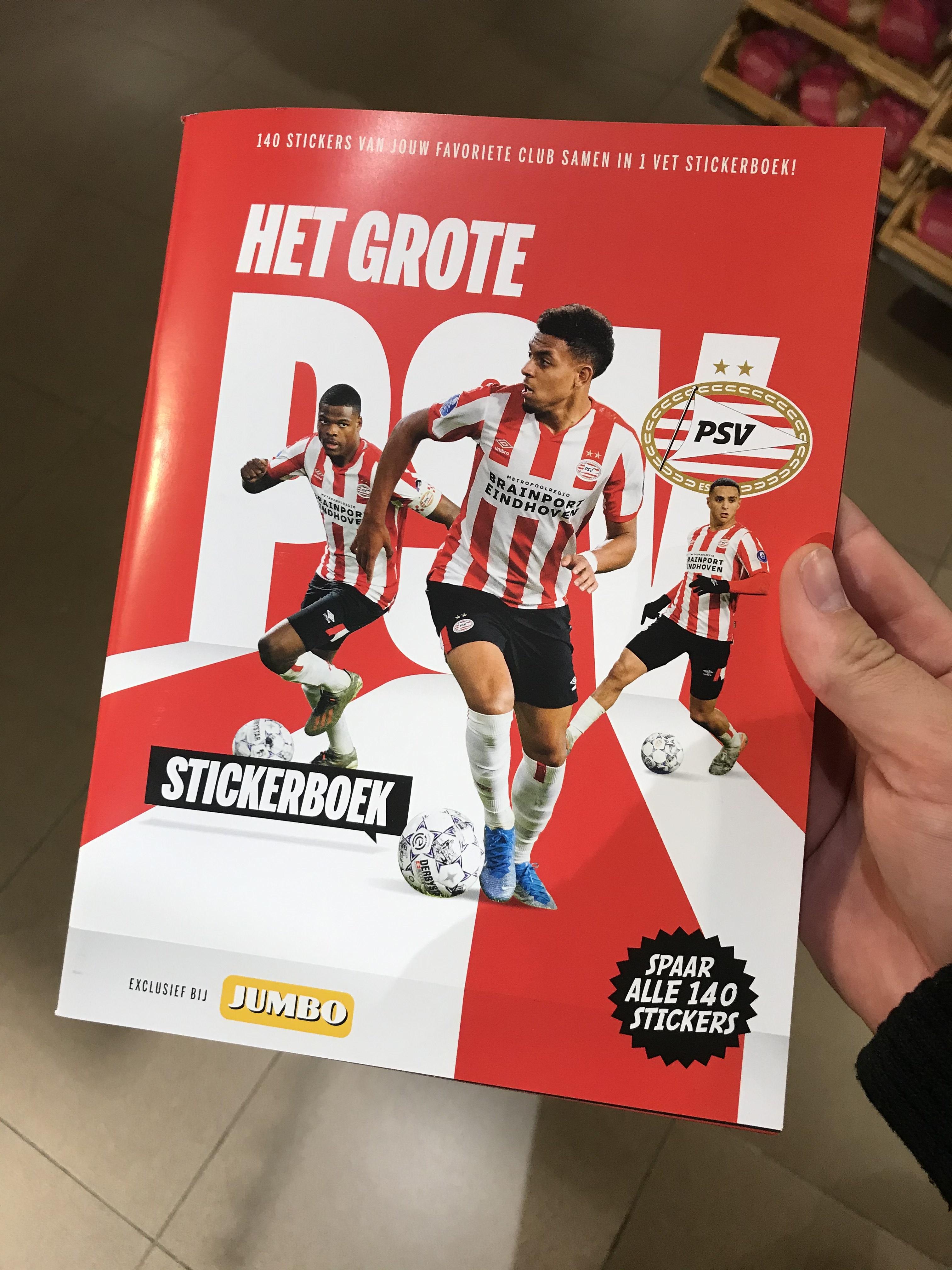 [Lokaal 040] PSV stickerboek + stickers voor niets bij Jumbo Meerhoven