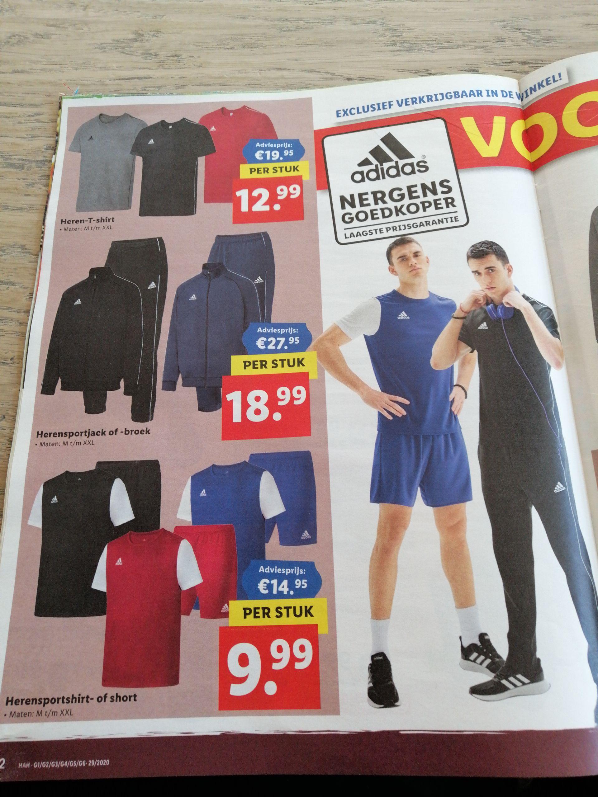 Verschillende heren en kids kleding Adidas in de aanbieding @Lidl