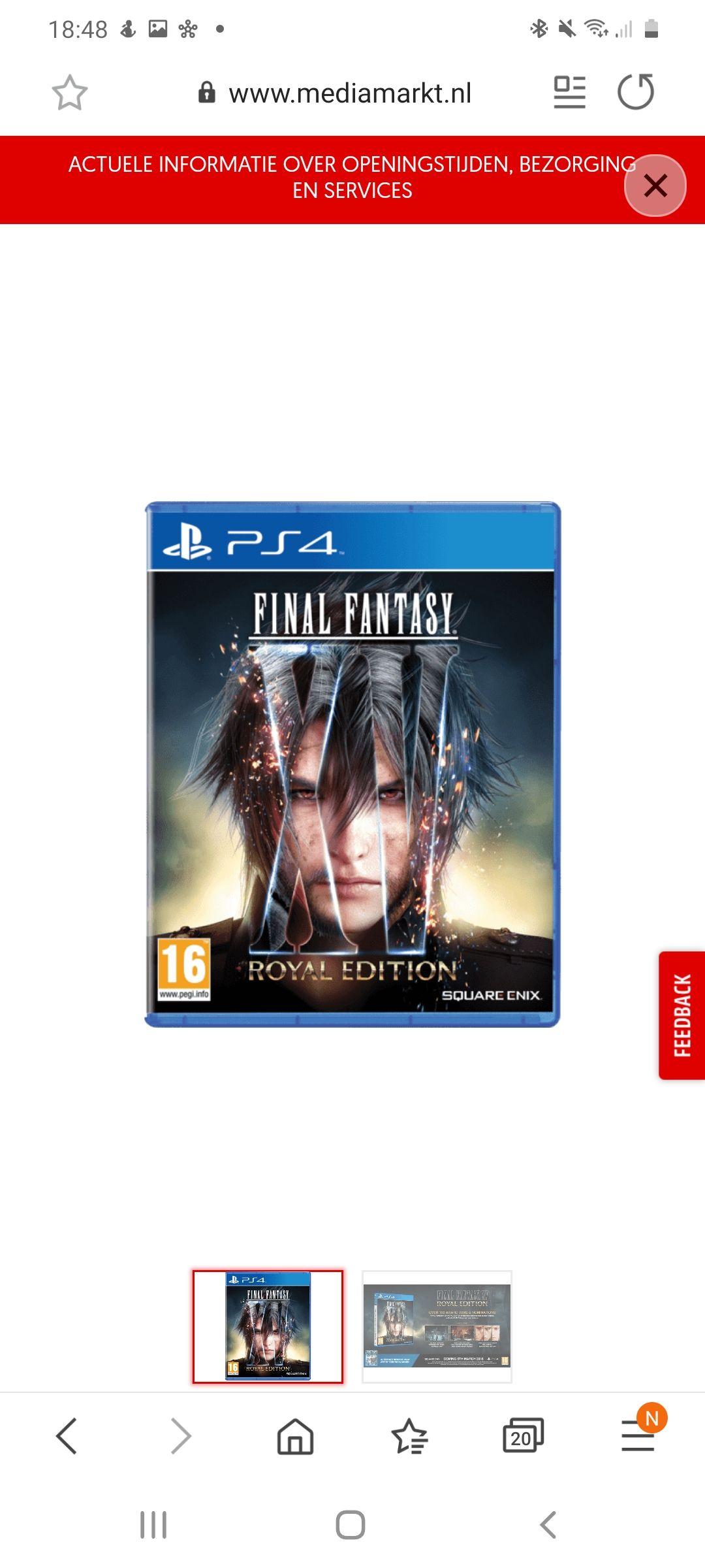 Final Fantasy xV Royal Edition PS4