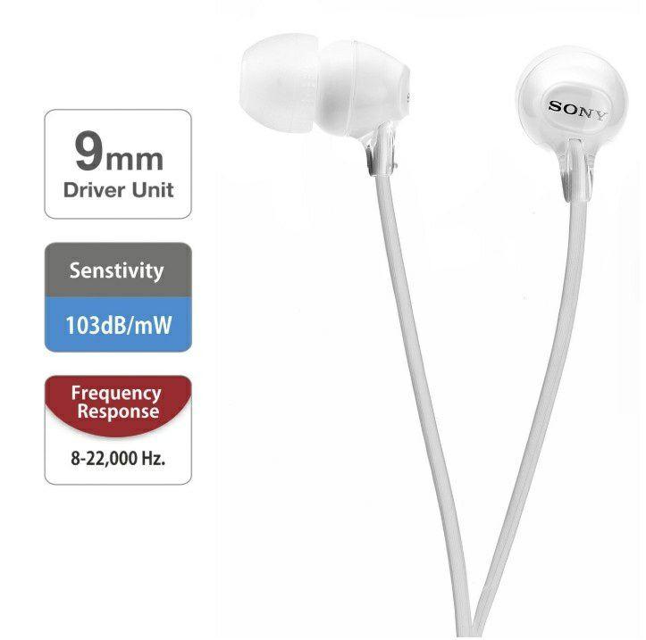 [Amazon NL/DE] Sony Mdr-Ex15Lpw Gesloten In-Ear Hoofdtelefoon Wit