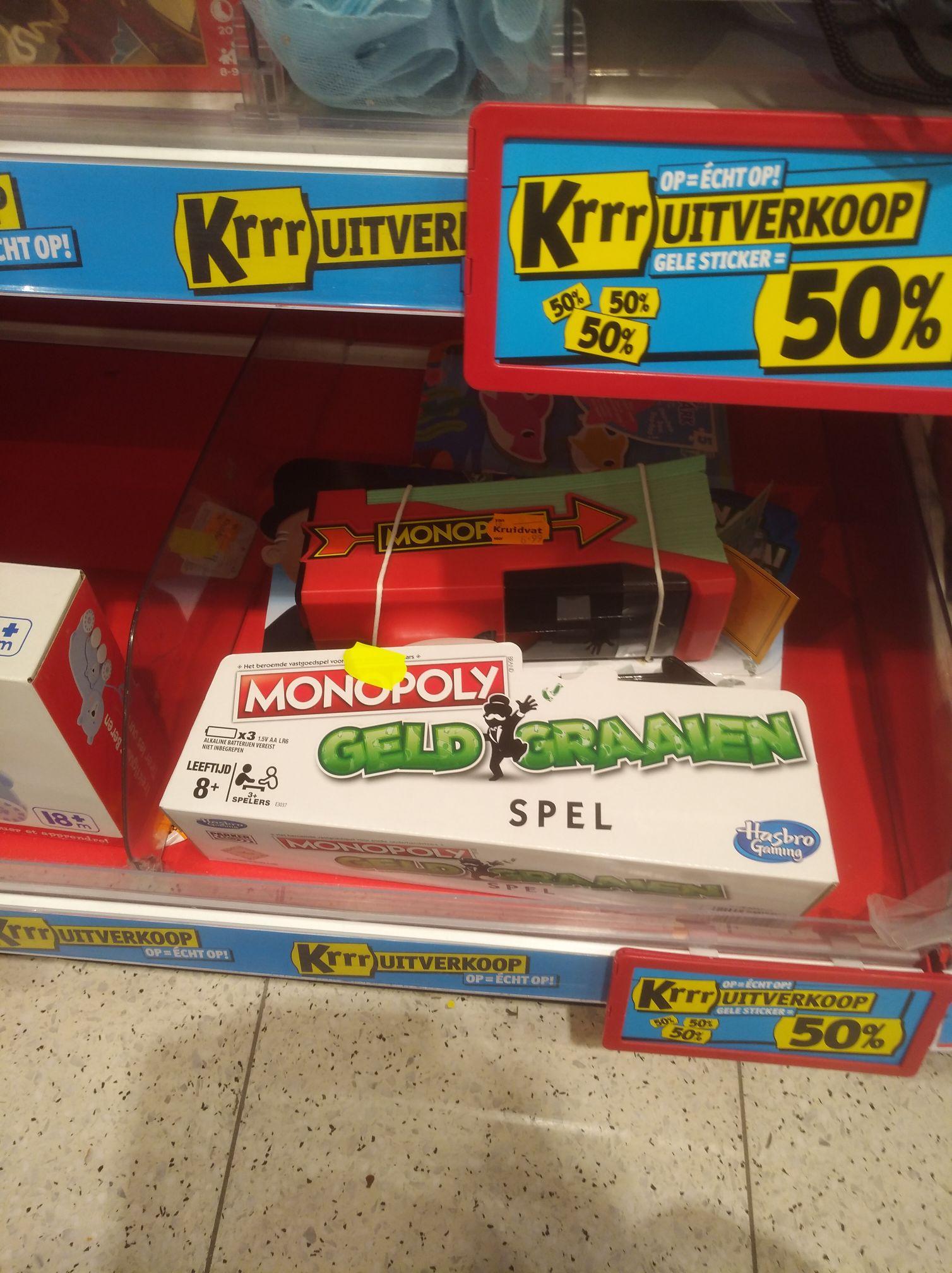 Monopoly geld graaien voor €2,50 bij Kruidvat Valkenburg