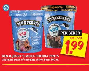 Ben & Jerry's (500ML) voor €1,99 @ DekaMarkt