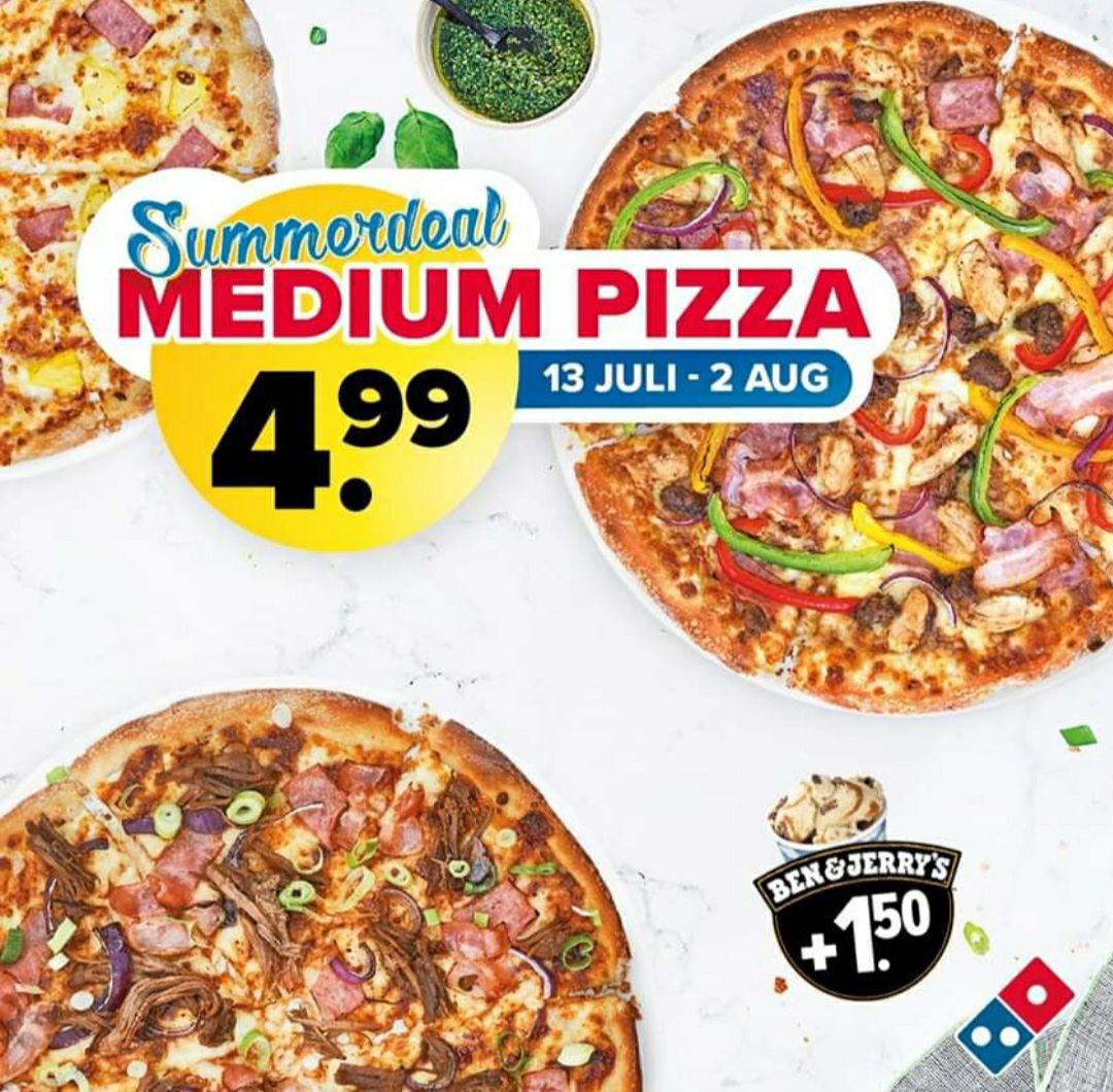 Alle medium pizza's bij domino's 5 euro bij afhalen