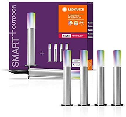 LEDVANCE Smart+ LED Tuinverlichting, ZigBee, warmwit - daglicht, dimbaar, RGB kleuren, 5 Spots, compatibel met Philips Hue Bridge