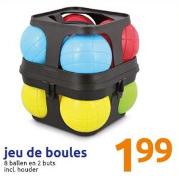 Kinder jeu de boules set (kunststof) weekactie bij Action