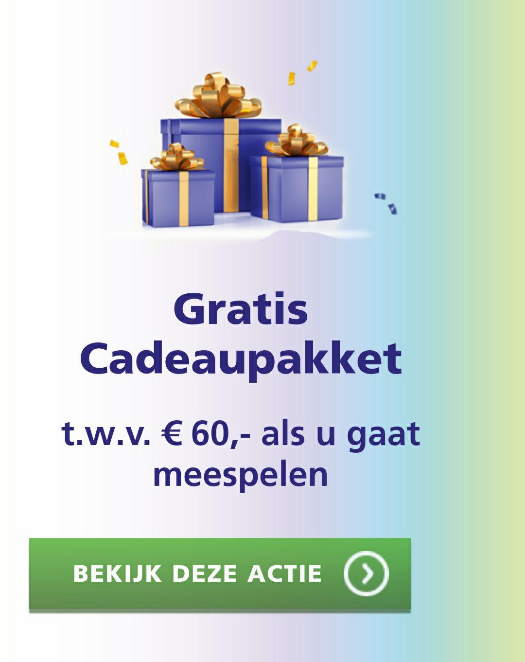 €60 cadeau pakket bankgiro loterij