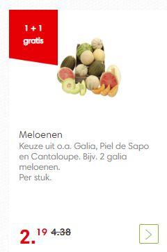 Meloen 1 + 1 gratis (Dekamarkt)