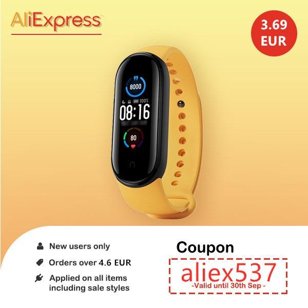 Nieuwe gebruikers krijgen € 3,69 korting van € 4,56 voor de hele site van AliExpress.
