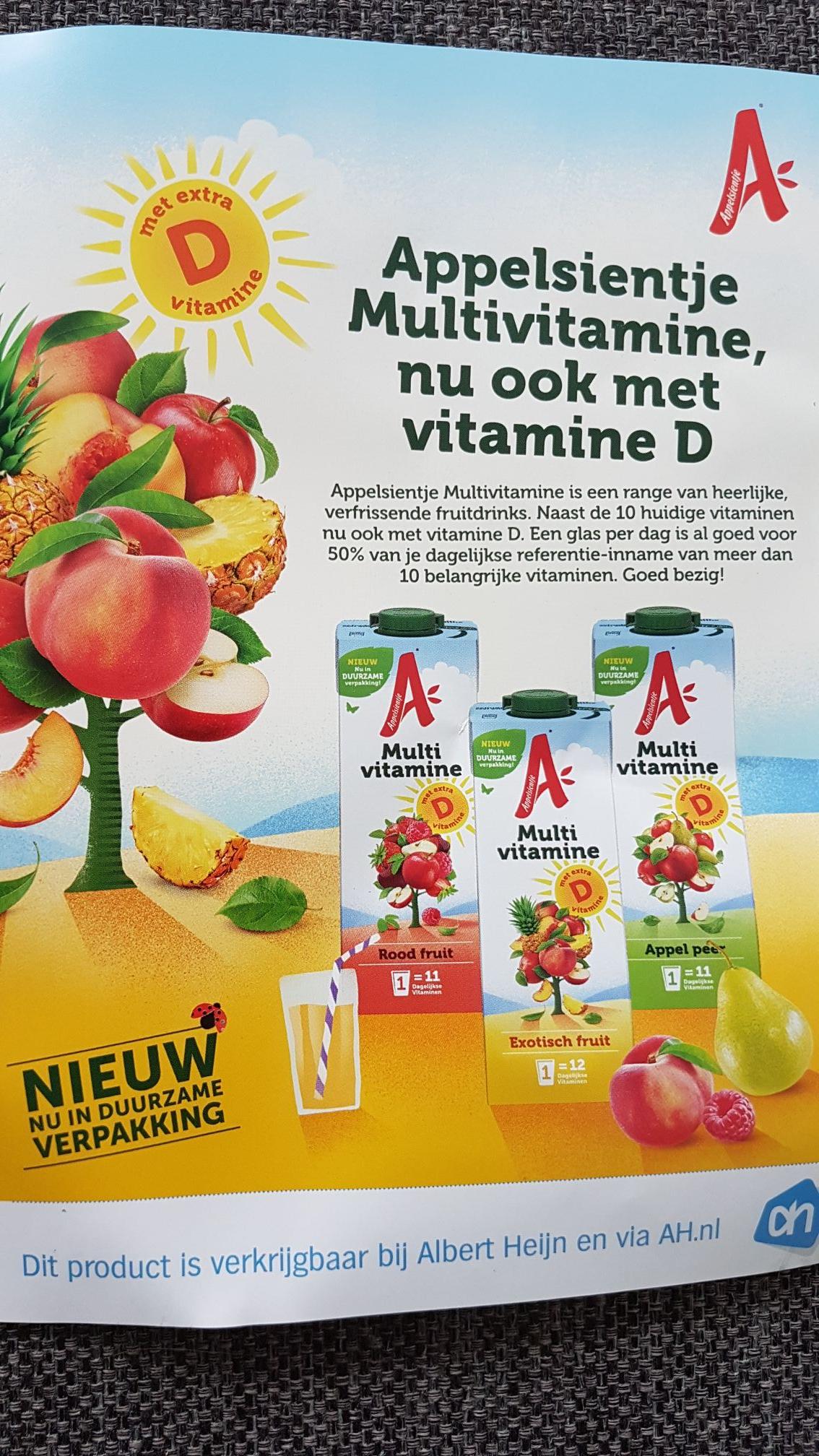 Appelsientje multivitamine 1+1 gratis @AH online