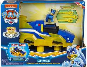 PAW Patrol Mighty Pups Charged Up Chase Transformerend Voertuig Hovercraft 36 cm