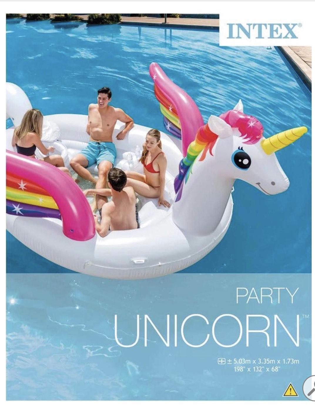 Intex luchtbed eiland unicorn @Bol.com