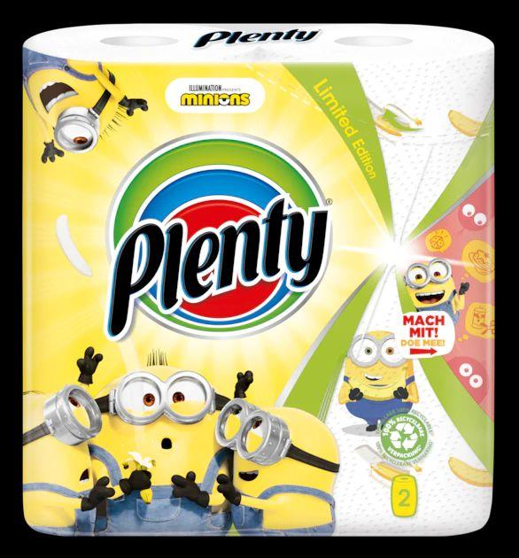 Plenty Minions keukenpapier - limited edition - 18 rollen - extra grote rollen