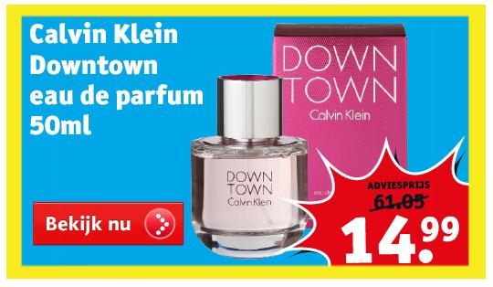 Calvin Klein 'Downtown' eau de parfum 50 ml €14,99 @ Kruidvat