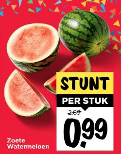 [Vomar] [Weekend Only] Zoete Watermeloen á € 0,99