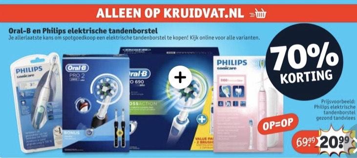 Oral-b en philips elektrische tandenborstels 70%