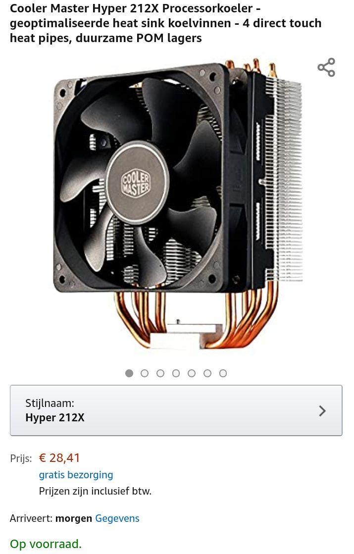 Cooler Master Hyper 212X (Elders vanaf 39,85)