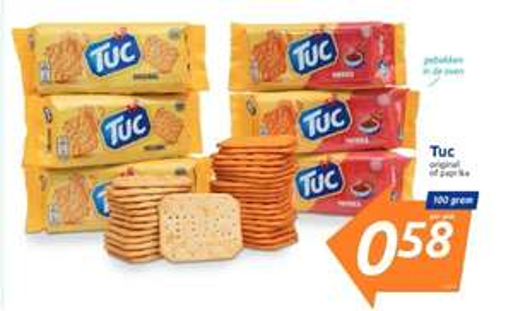 LU Tuc Original of Paprika Cracker - 100 g @ Action
