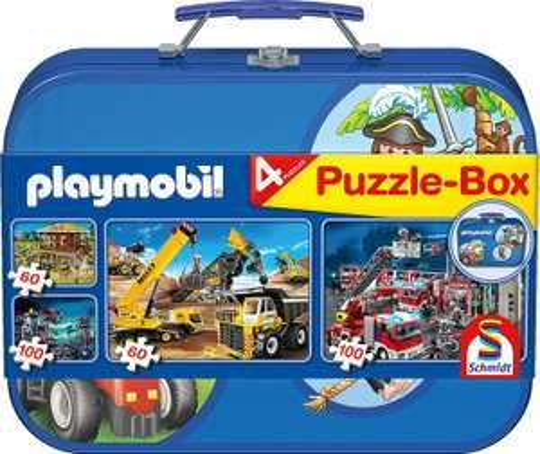 13 Verschillende puzzelkoffers met 4 puzzels (o.a. Playmobil) [@amazon.nl en .de]