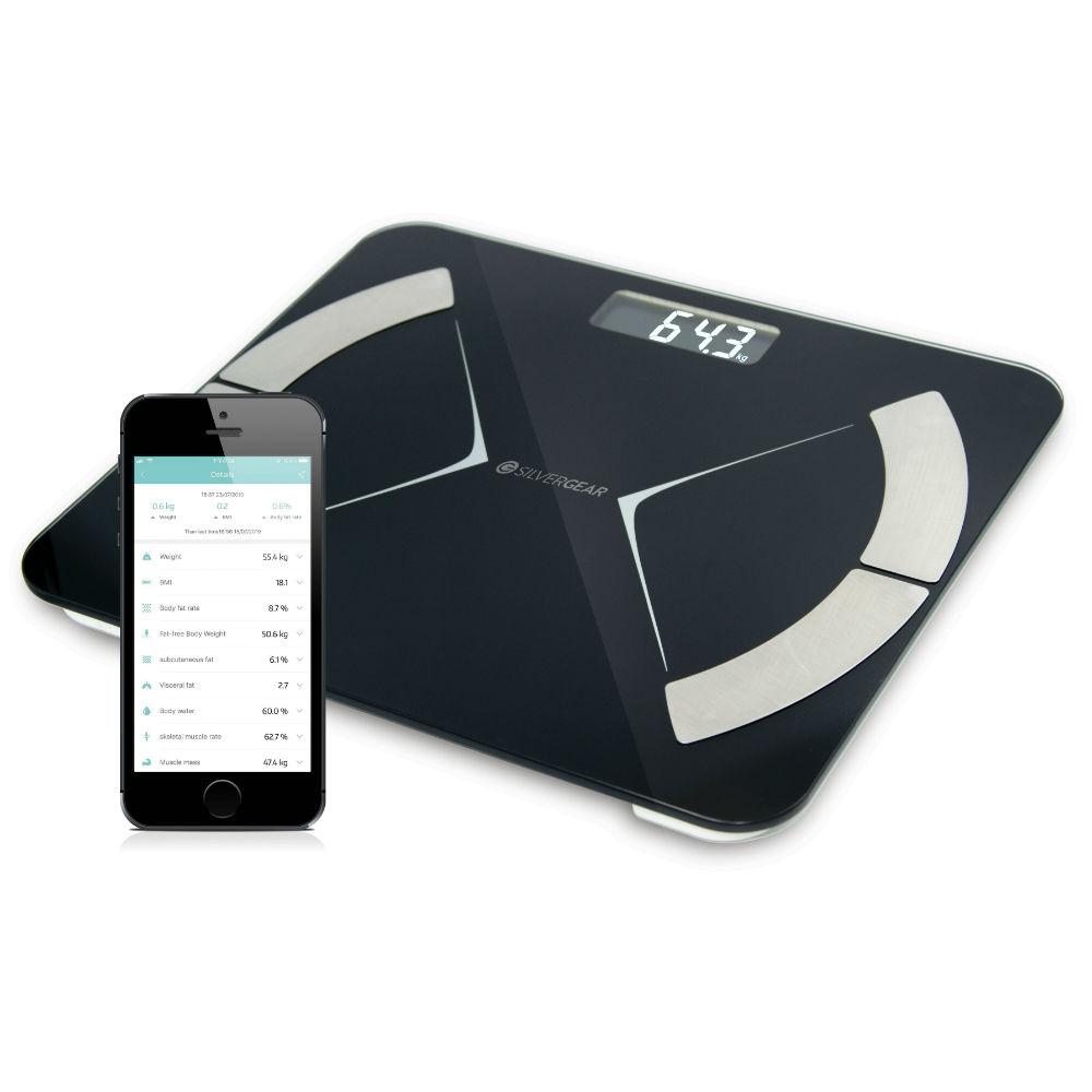Silvergear Bluetooth Personenweegschaal @Silvergear