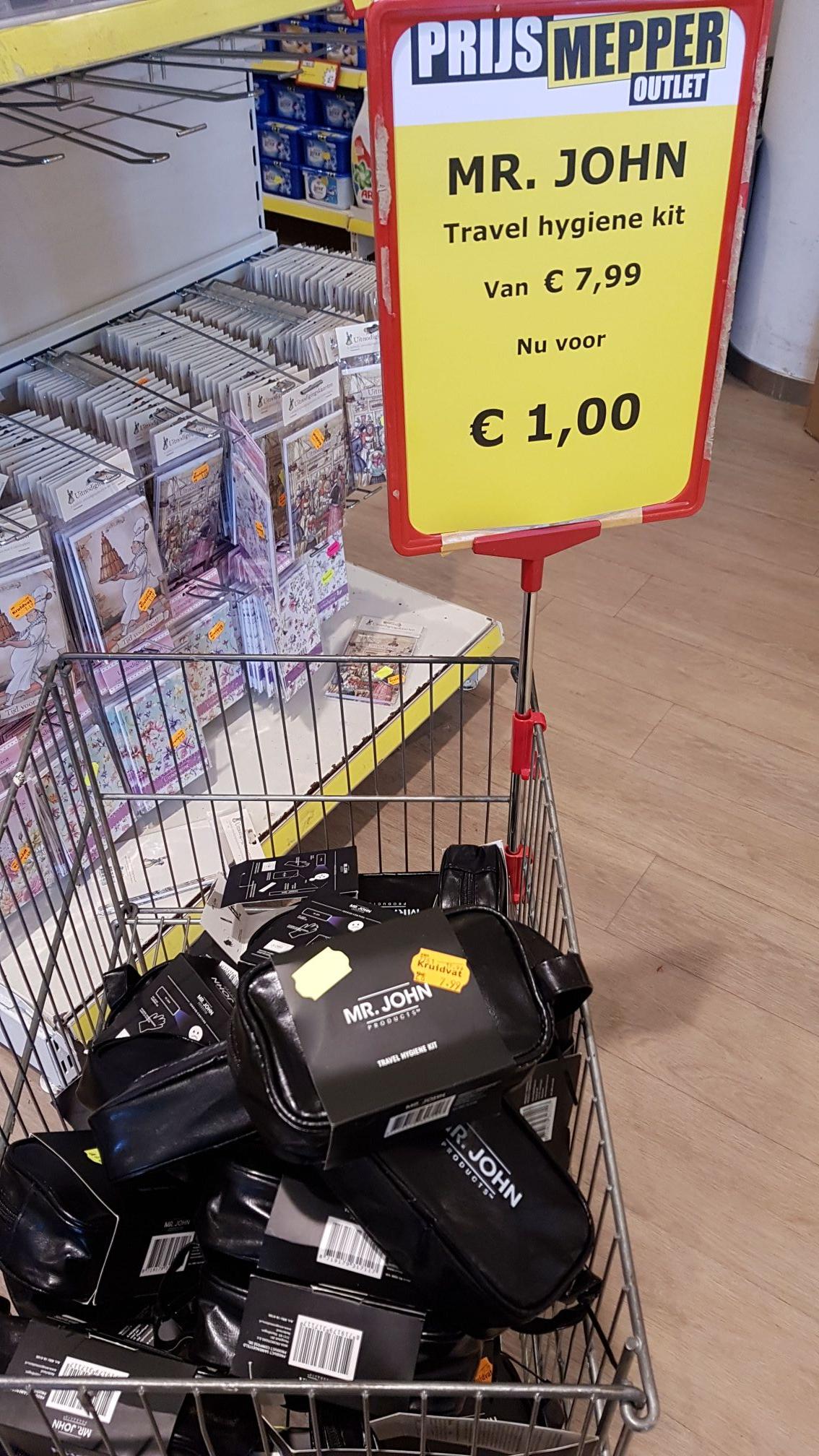 Mr John products travel hygiene kit @Prijsmepper Zoetermeer
