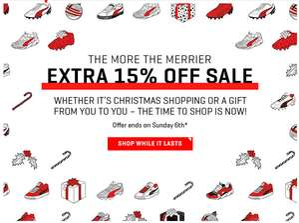 15% EXTRA korting op de SALE @ Puma