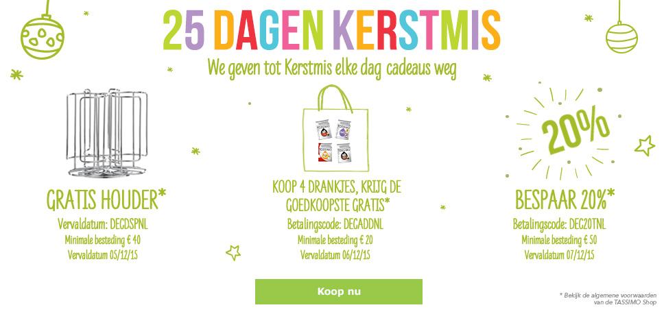 25 Dagen Kerstmis traktaties (o.a. 4 halen 3 betalen) @ TASSIMO