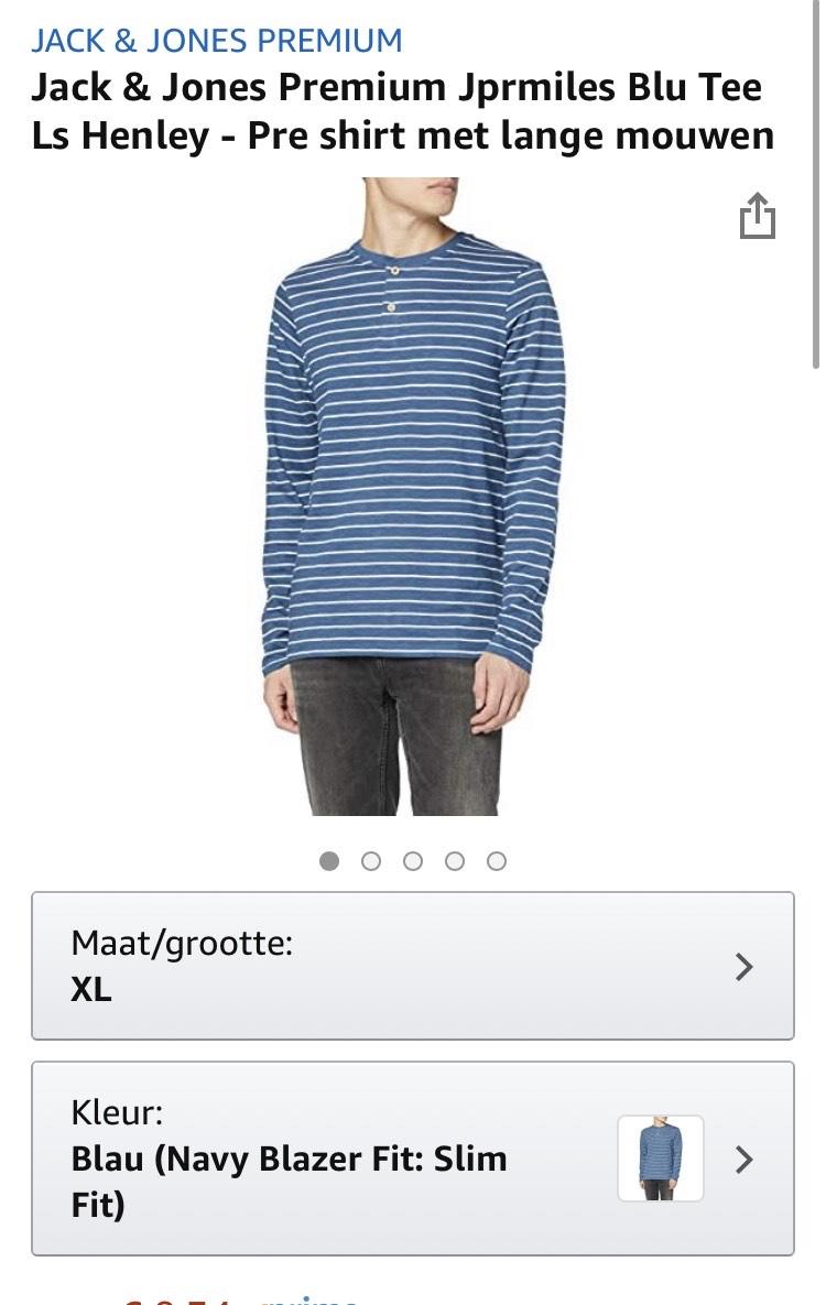 Jack & Jones Premium shirt met lange mouwen (maat S/L/XL)