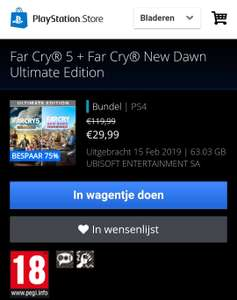 Far Cry® 5 + Far Cry® New Dawn Ultimate Edition (PS4)