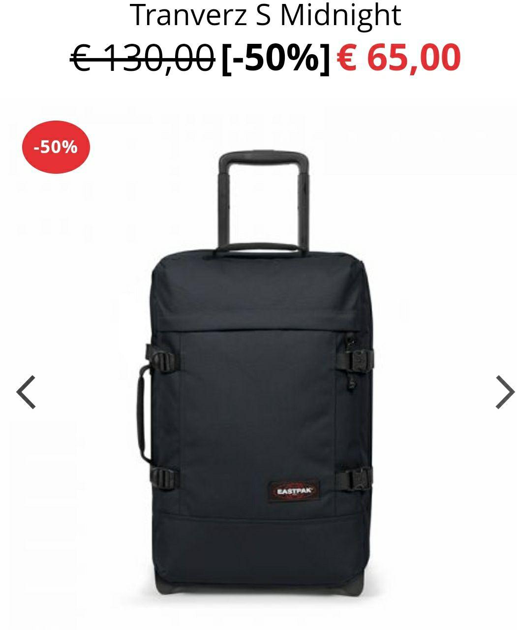50% korting op Eastpak trolley koffers