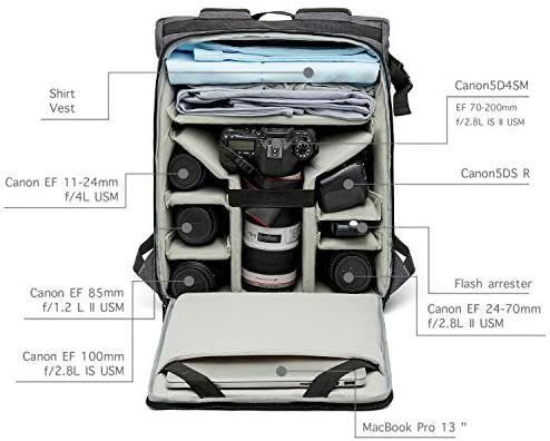Bagsmart cameratas met veel ruimte