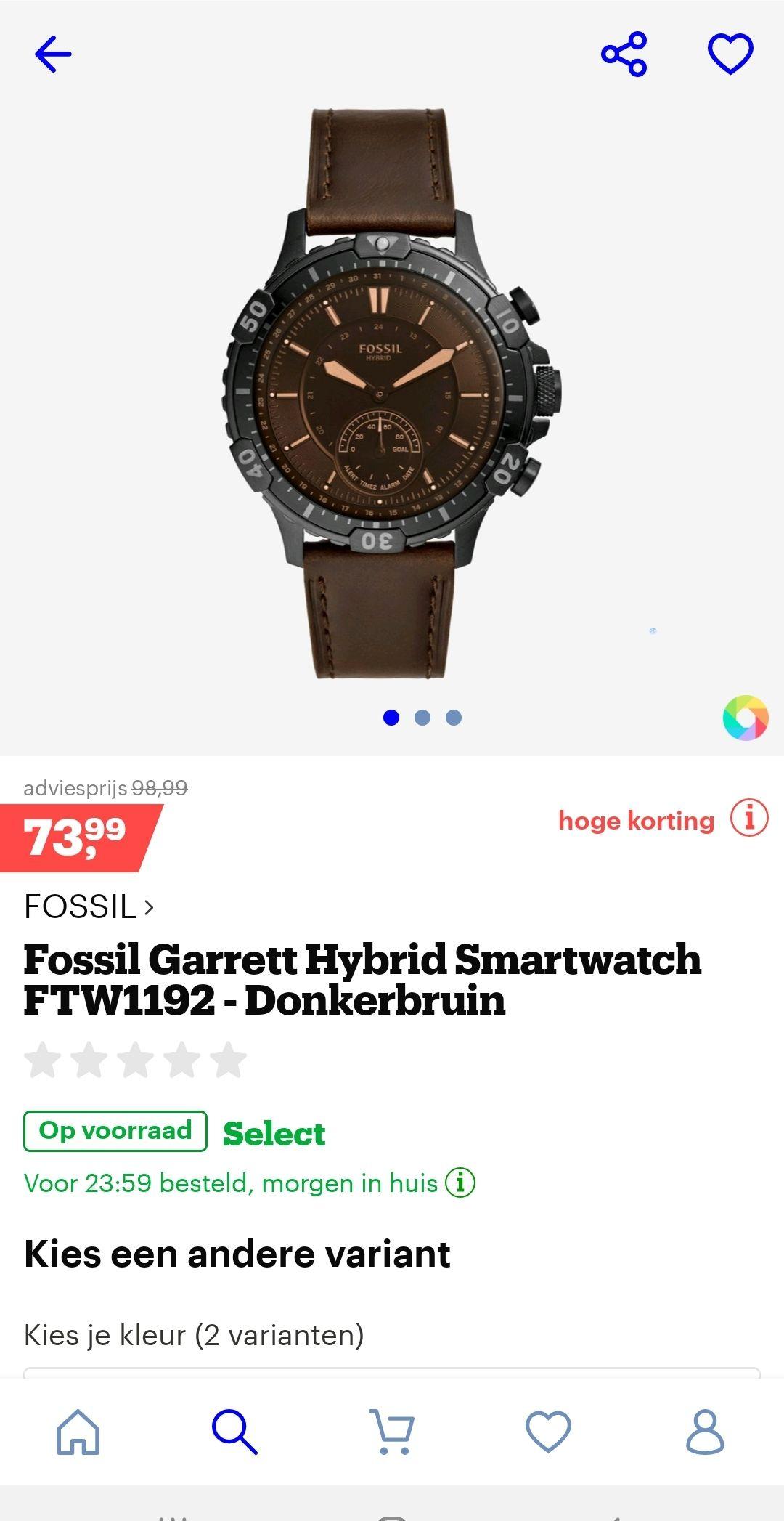 Fossil garrett hybrid ftw 1191