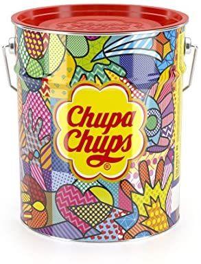 Chupa Chups 150 stuks in metalen blik @amazon.nl