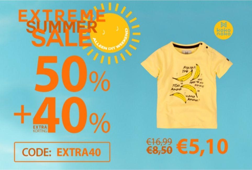 40% extra korting op de sale bij jayno.nl kinderkleding