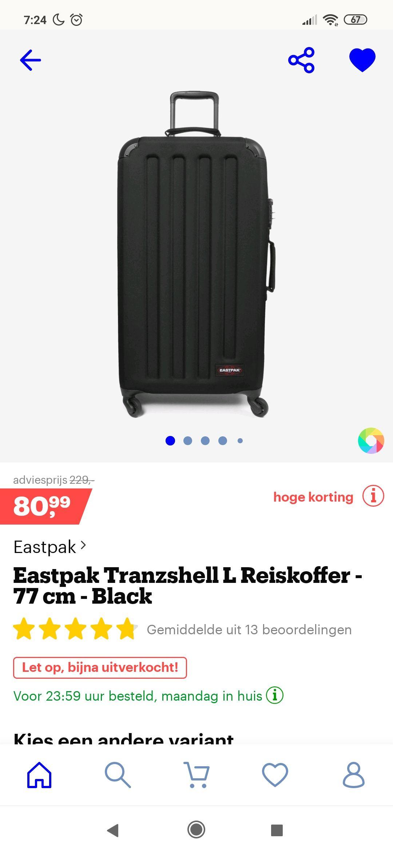 Eastpak Tranzshell L 75L koffer @bol.com