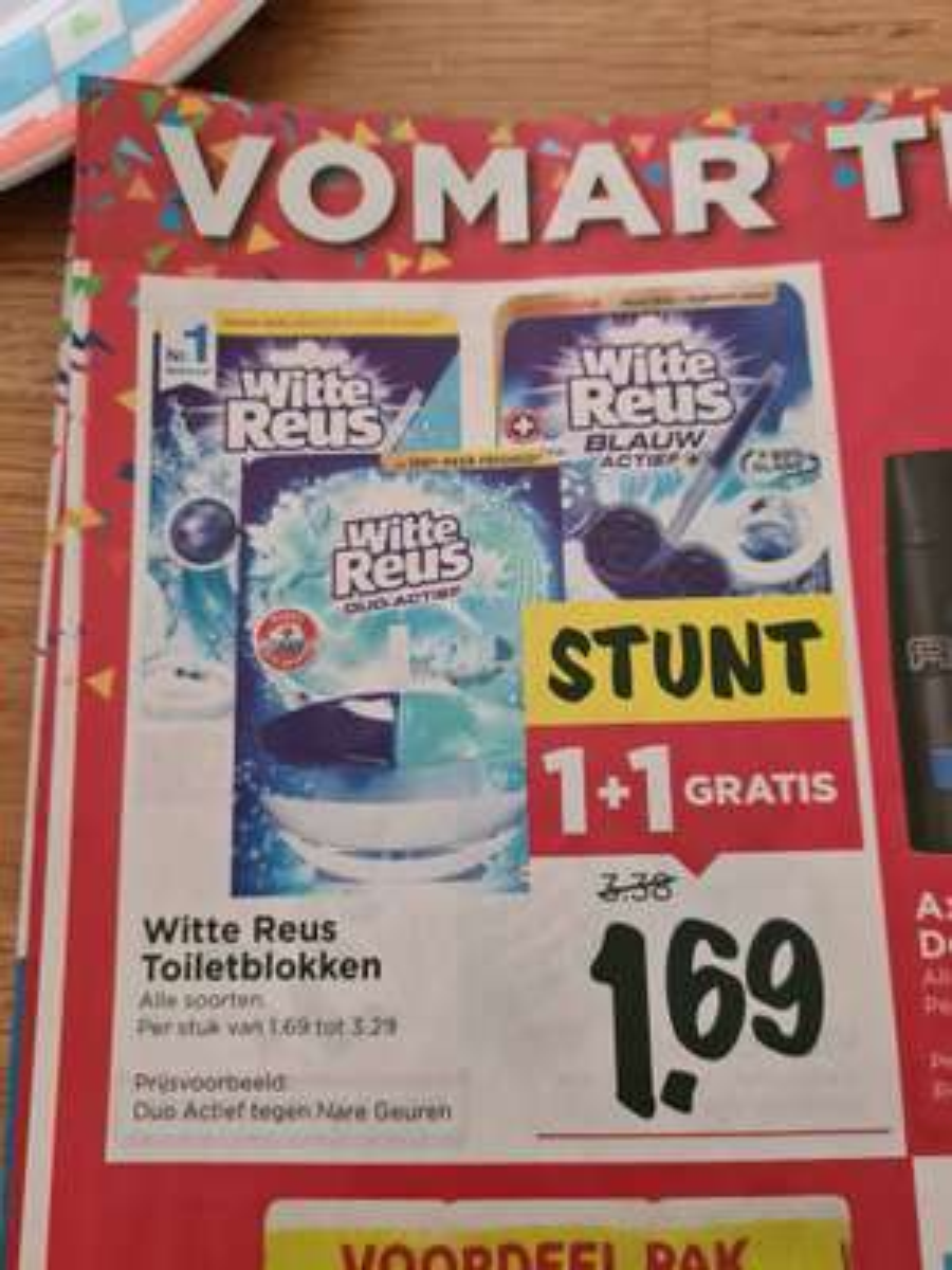 Vomar 26 juli t/m 1 augustus witte reus wc blok 1 + 1 gratis