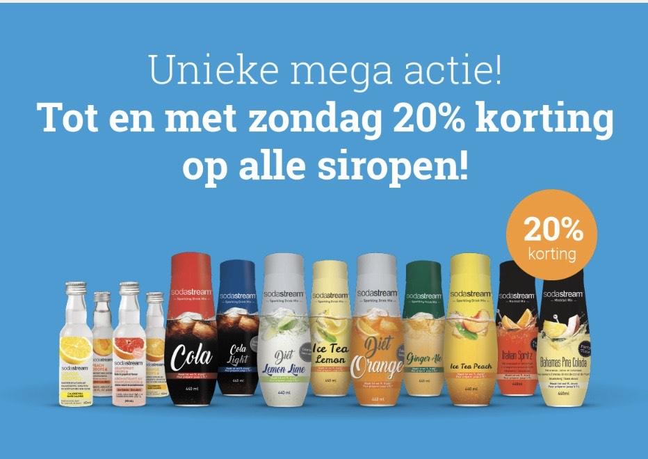 20% korting op SodaStream siropen