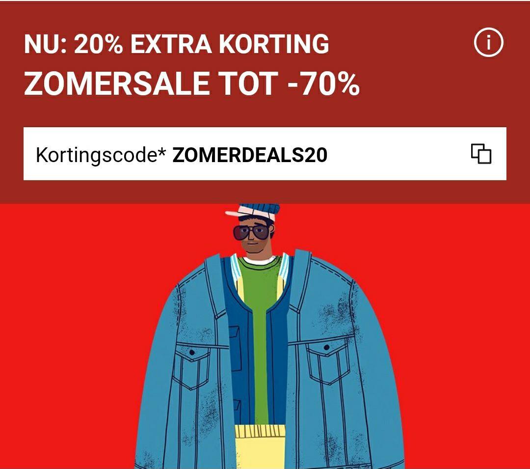 20% extra korting op alles van de sale (min. bestelwaarde €100) @ Zalando