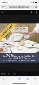 Jackies Bay tableware; servies en keukentextiel tot 70%